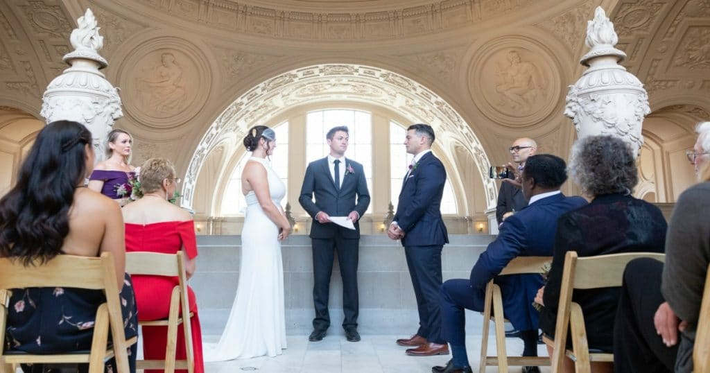 M and K SF city hall wedding